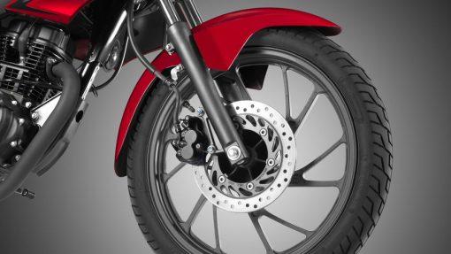 Honda CBF 125F Motorcycle - wheel, CMG, Chelsea, UK