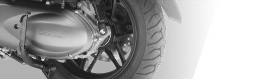 08 closeup - Honda Forza 300 Scooter Back wheel