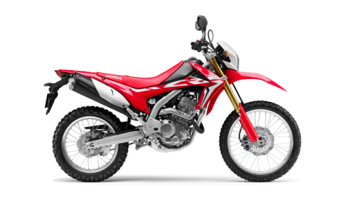 Honda CRF250L motorcycle - Red colour, side view, CMG