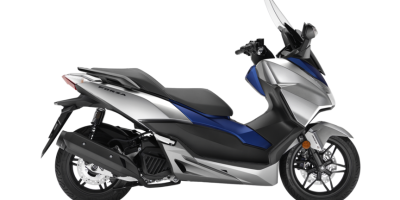 Honda Forza 125 – Matt Lucent Silver Metallic & Matt Pearl Pacific Blue colour, Chelsea