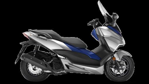 Honda Forza 125 – Matt Lucent Silver Metallic & Matt Pearl Pacific Blue colour, Chelsea