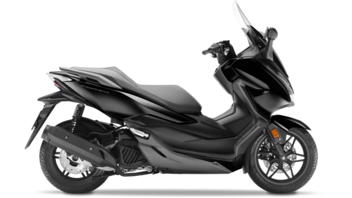 Honda Forza 125 scooter - Gloss Black & Matt Cynos Grey Metallic colour