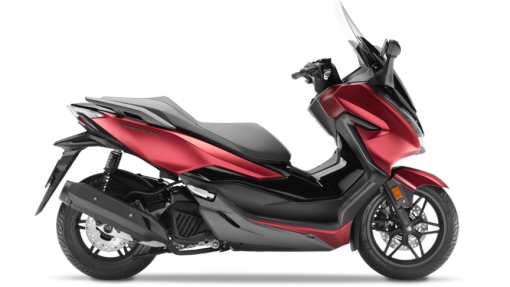Honda Forza 125 scooter - Matt Carnellian Red Metallic & Pearl Nightstar Black colour