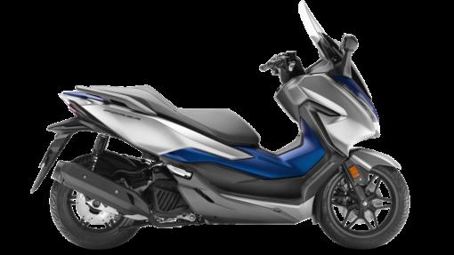 Honda Forza 125 scooter - Matt Lucent Silver Metallic & Matt Pearl Pacific Blue colour