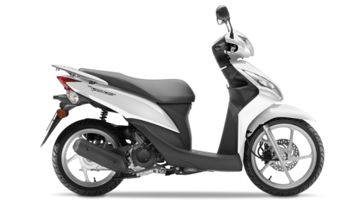 Honda NSC50 VISION Scooter – Pearl Cool White colour, CMG, Chelsea, UK