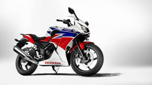 Honda CBR300R Motorcycle side view, CMG Shop