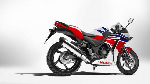 Honda CBR300R Motorcycle parked, Chelsea, UK