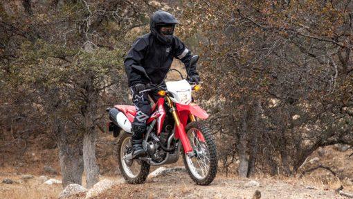 Honda CRF250L motorbike - Red colour, riding, UK