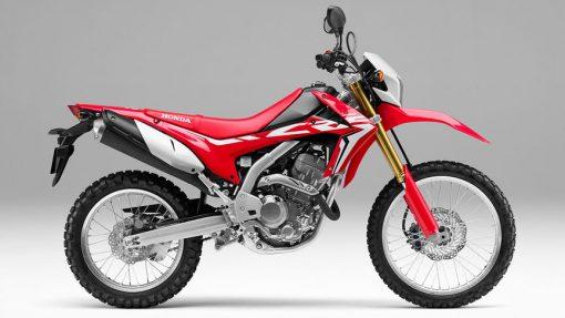 Honda CRF250L Motorcycle - side view, Chelsea