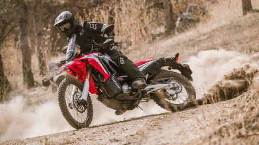 Honda CRF250 Rally Motorbike riding