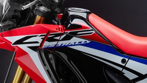 Honda CRF250 Rally Motorbike, close view, UK