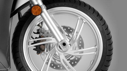SH300i wheel, Chelsea Motorcycles Group, London