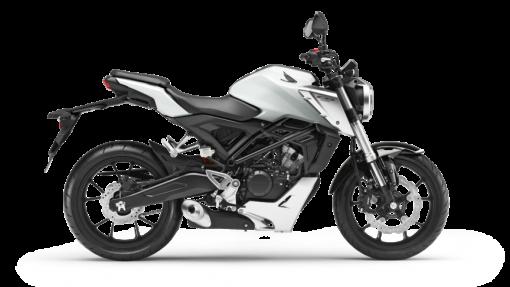 Honda CB125R Road Motorcycle - Pearl Metalloid White colour