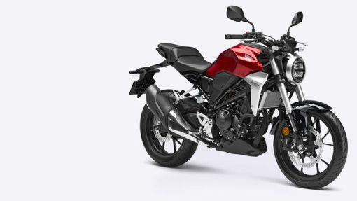 Honda CB300R motorcycle - view 3/4