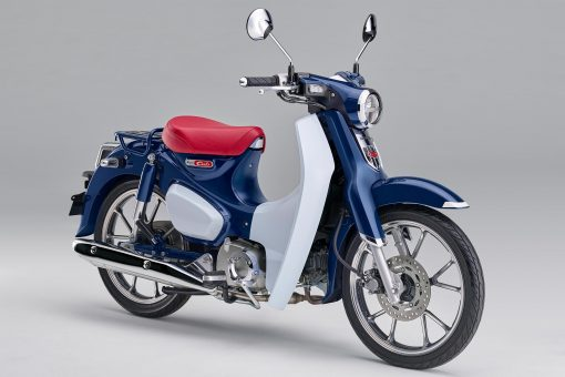 2019 Honda Super Cub C125 motorbike - side view 3/4