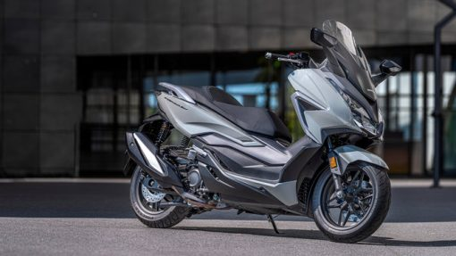 Honda Forza 350 scooter 2021 parked